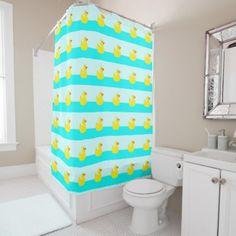 #Rubber Ducks Shower Curtain - #Bathroom #Accessories #home #living