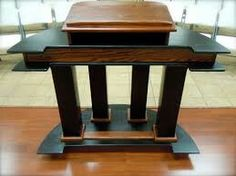 Classic two tone wood & dark color design pulpit