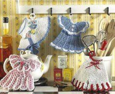 Vintage Fashion Potholders Pattern