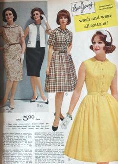 1964 Full Skirt Dresses and Sheath Dresses still in fashion