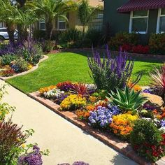 Beautiful small front yard landscaping ideas low maintenance - You may have many reasons in considering front yard landscaping ideas. But one thing for sure, your front yard has to show who you are. Cheap Landscaping Ideas For Front Yard, Landscaping Supplies, Backyard Landscaping, Front Yard Tree Ideas, Corner Landscaping Ideas, Backyard Ideas, Front Walkway Landscaping, Front Yard Flowers, Concrete Backyard