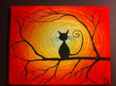 Cat Painting What Can I See 8 x 10 acrylic by MichaelHProsper