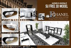 Free sketchup 3d models on pinterest double beds models for Arredi sketchup