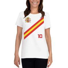 <transcy>Spanje voetbalshirt in stijl voor dames Espana</transcy>