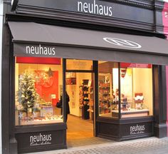 Neuhaus- A classic, fave chocolate shop. (Neuhaus chocolate factory has a boutique on-site. Some items are a deal there. Belgian Chocolate, Chocolate Shop, Chocolate Factory, Best Chocolate, Brussels Christmas, Shop Around, My Childhood Memories, Kakao, Bruges