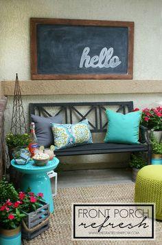Front Porch Refresh - thecraftedsparrow.com