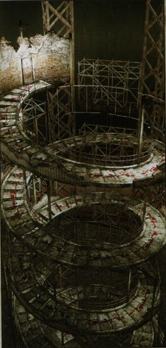 Silent Hill The Room: Spiral Staircase - Was created and used by Walter Sullivan to access the many worlds his dark rituals had formed. Silent Hill Video Game, Silent Hill Series, Silent Hill 2, Arte Horror, Horror Art, Horror Films, Spiral Staircase, Dark Art, Cool Pictures