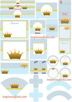 clique aqui princesa coroa kit digital inspire sua festa