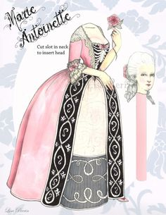Marie Antoinette paper doll#Repin By:Pinterest++ for iPad#