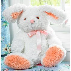 "M C G Textiles Huggables Bunny Stuffed Toy Latch Hook Kit, 19"" Tall"