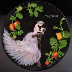 Sashimi Artist Designs Incredible Food Art From Raw Fish And Other Edible Ingredients Arte Do Sushi, L'art Du Sushi, Sushi Art, Sashimi Sushi, Cute Food, Yummy Food, Healthy Food, Amazing Food Art, Fish And Meat