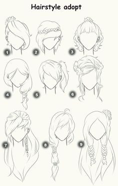 Hairstyle adopts (CLOSED) by x3misteryYuyux3.deviantart.com on @deviantART