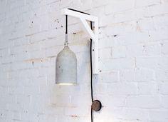 DIY luminária de concreto