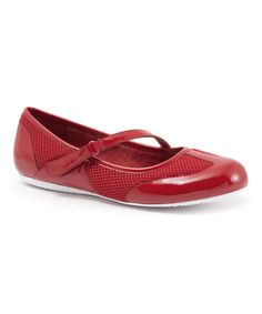Loving this SoftWalk Red Patent Nadia Leather Mary Jane on #zulily! #zulilyfinds