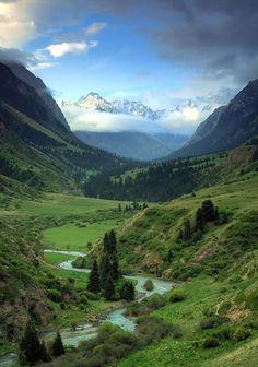 Views of the gorge Juuku Kyrgyzstan - the Asian giant of the old Soviet Union - Pixdaus (my next destination)