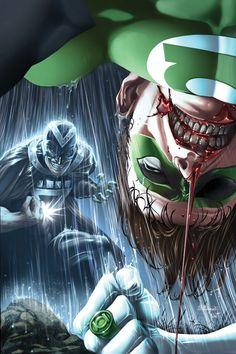 "Green Lantern and William Hand from ""The Darkest Night"" Green Lantern Corps, Green Lantern Hal Jordan, Black Lantern, Green Lanterns, Arte Dc Comics, Marvel Dc, Dc Comics Characters, Comics Universe, Comic Books Art"