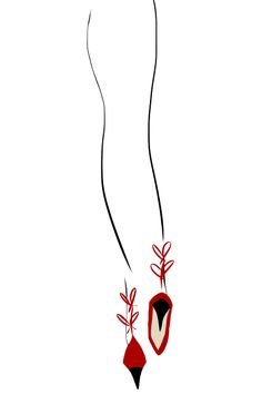 Red Heels #fashion #fashionillustration #bybc