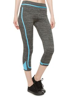 Performance Capri Leggings With Piping And Contrast Hems Rainbow Shop, Sweat It Out, Capri Leggings, Skinny Legs, Contrast, Tights, Sweatpants, Workout, Stylish