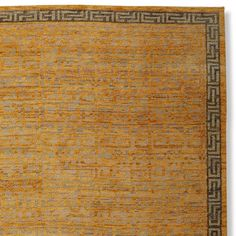 Zhara Maze Hand Knotted Rug Swatch, Yellow