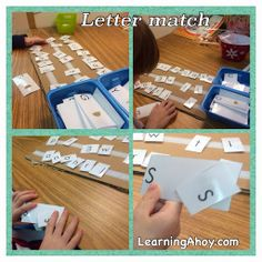 Learning Ahoy!!: New work boxes/tasks!: Letter Match