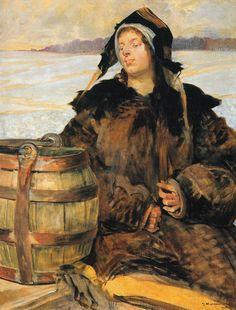 Jacek Malczewski, Polish Poisoned Well V, oil on canvas, 84 x 107 cm, National Museum in Poznan Oil On Canvas, Canvas Art, Wall Art Prints, Canvas Prints, Post Impressionism, Art Database, National Museum, Large Art, Portrait Art