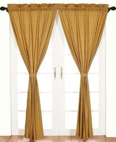 Tie-in-Middle style. (Victorian Lace Curtain – Antique)
