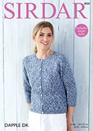 Sirdar 8081 Cardigan in Sirdar Dapple DK ( weight) for Adults Pattern Code, Knitting Needles, New Product, Knitting Patterns, Knit Crochet, Sweaters, Cardigans, Lady, Sleeves