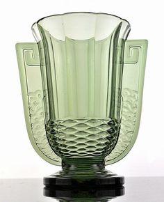 "Val Saint Lambert - art deco vase ""Romeo"" | Catawiki Online Auctions"