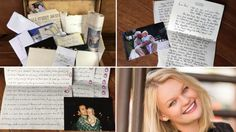 Time capsule filled with letters; 1st Birthday Idea!