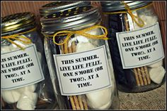 Angela's Adventures: S'mores in a Jar-An easy and useful summer gift idea! #wedding #favor