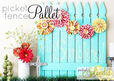 Love picket fences.. would be great to make a decorate one however I wanted!