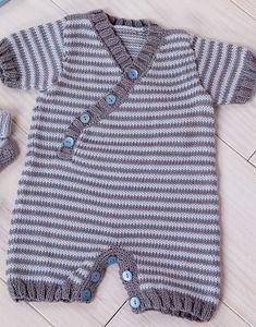 modèle combinaison manches courtes à tricoter