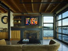 "Floating home on a lake in Seattle. Love it! Like a modern version of the ""Sleepless in Seattle"" house"