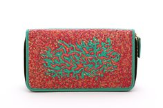 $90 Mint Hand Painted Clutch Wallet by Pittura Arte   Shop here: http://www.trendcy.com/mint-hand-painted-clutch-wallet/