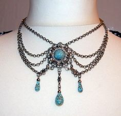 Vintage Country or Steampunk Necklace Boho Gypsy by CrochetRagRug