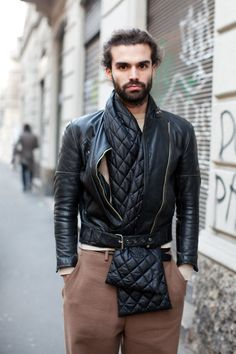 leather in style