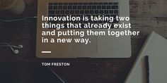 """""""Innovation is taking two things that already exist and putting them together in a new way"""" - Tom Freston  It's time to be Creative and Innovative!!! #Hackathon #letshack #hackathonInRapidOps"""