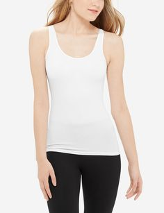 Satin Trim Seamless Tank | Women's Tops & Tees | THE LIMITED