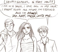 Erwin, hanji and levi attack on titan Attack On Titan Comic, Attack On Titan Ships, Aot Memes, Funny Memes, Mikasa, Hanji And Levi, Miss Congeniality, Emo, Animes On