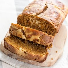Skinny Pumpkin and Cream Bread for less than 200 calories a serving!
