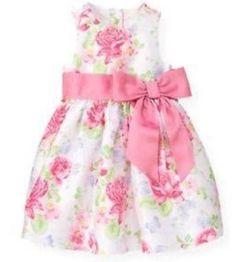 Janie & Jack BUTTERFLY DREAM Floral Silk Dress 18-24 Months VHTF