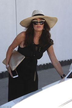 On home turf again: Real Housewives star Lisa Vanderpump was spotted back in Beverly Hills on Thursday after a brief trip to Washington, D.C.