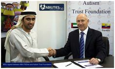 Mr. Fahad Ali Al Shaikh from ATF and Mr. Geoff Dickinson from DMG sign MOU