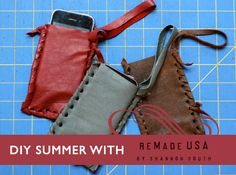 Make Recycled-Leather iPhone Case