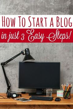 Have you been wanting to start your own blog? It's super easy to get started! In this post I explain how to start a blog in just 3 easy steps!