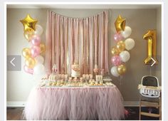 65 Trendy Baby Shower Ideas Princess Pink And Gold Birthday Parties Pink And Gold Birthday Party, Baby First Birthday, Princess Birthday, First Birthday Parties, Girl Birthday, 1st Birthday Girl Party Ideas, Pink Gold Party, Birthday Diy, Pink Gold Cake