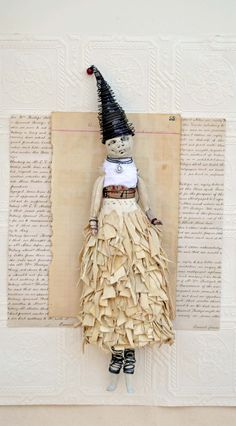 Original Mixed Media Art Doll Coco by Indiandollartworks on Etsy, $240.00