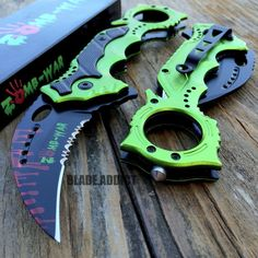 "8"" ZOMBIE KARAMBIT Tactical Claw Spring Assisted Pocket Knife Rescue Combat EDC"