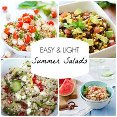 Easy and Light Summer Salads