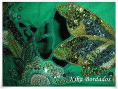 Camiseta verde borboletas, barrado trabalhado, Ana Paula 03